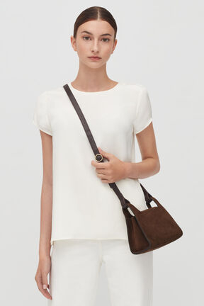 Mini Double Loop Bag, Chocolate (Limited Edition), plp