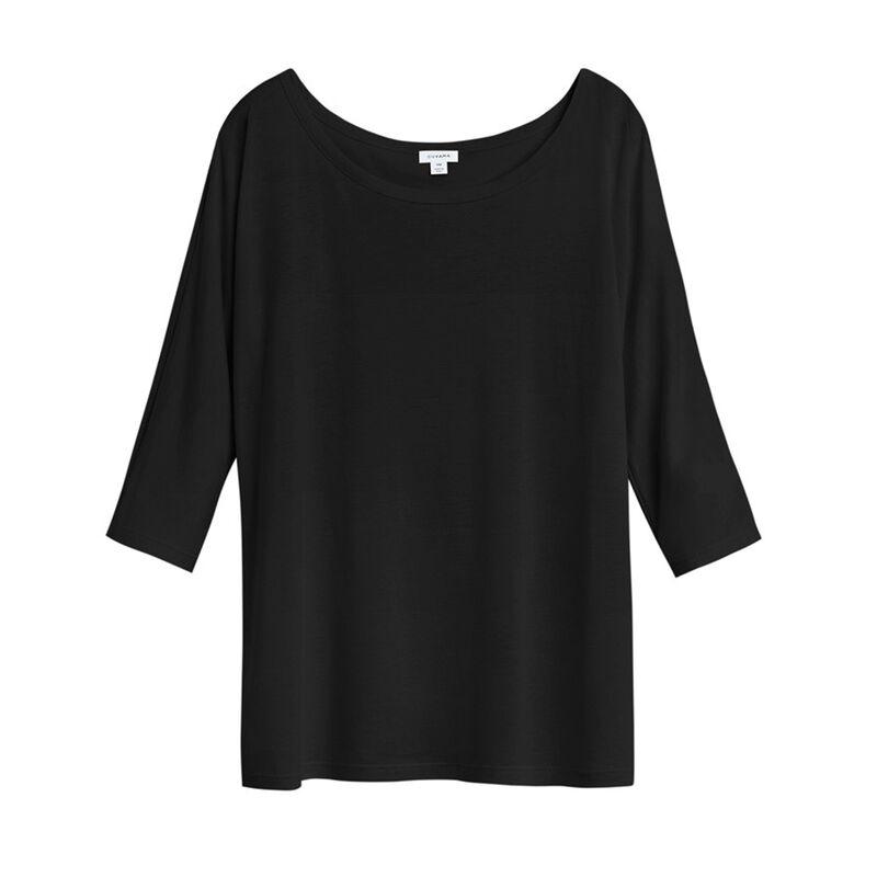 Pima Drape-Back Top in Black