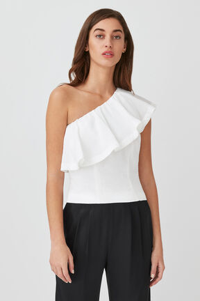 Cropped Flounce Top