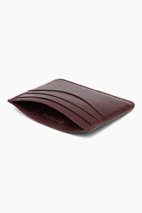 Leather Cardholder, Burgundy, plp