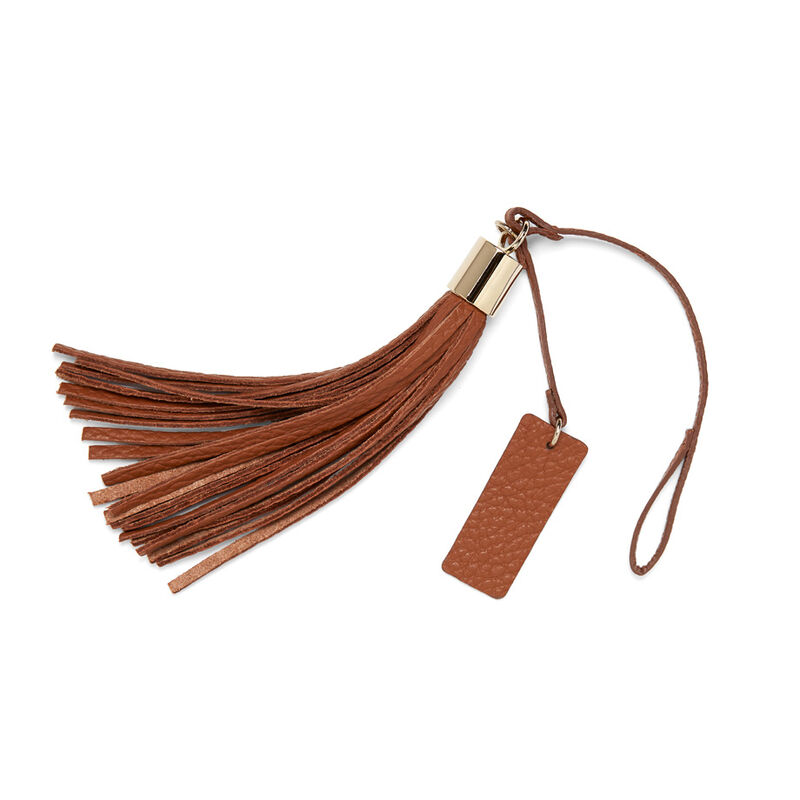 Leather Bag Tassel in Caramel