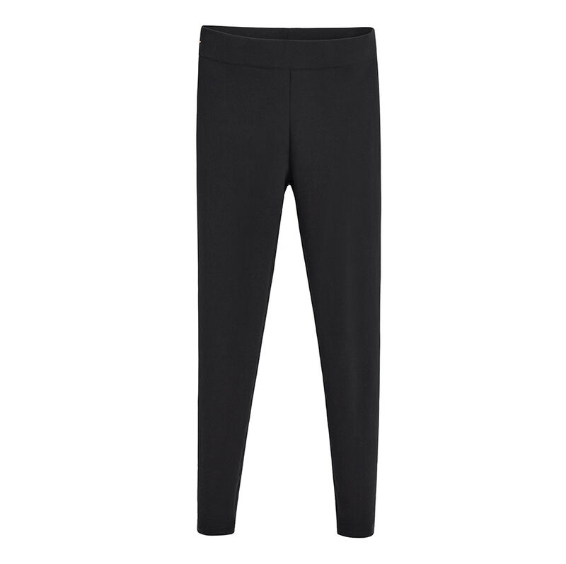 Fleece Leggings, Black, large