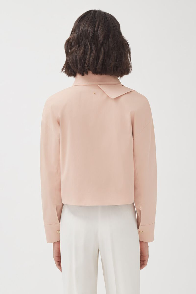 Cropped Trench, Soft Rose, large
