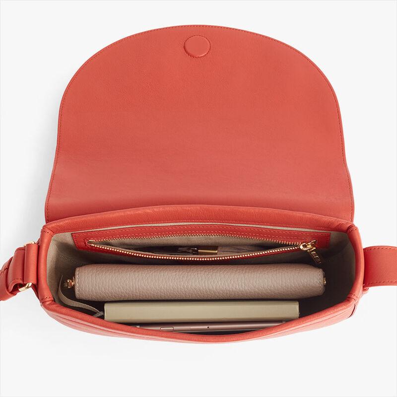 Half-Moon Shoulder Bag in Blood Orange