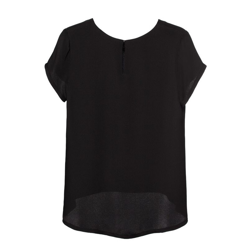 Silk Tee in Black