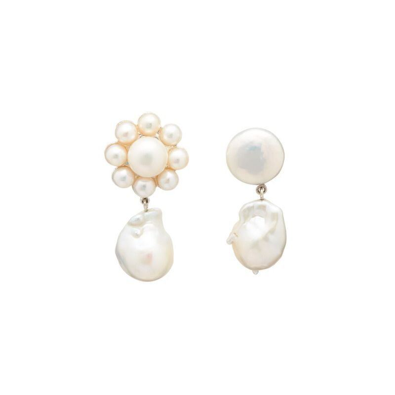 Louise Earrings in White