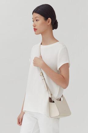 Mini Double Loop Bag, Ecru, plp