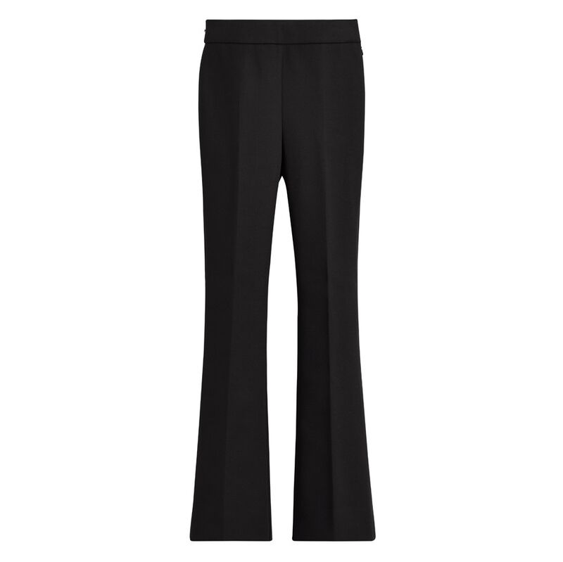 Cotton Twill Flared Pant in Black