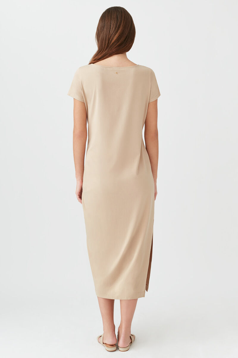 Gathered Front Tee Dress Dune