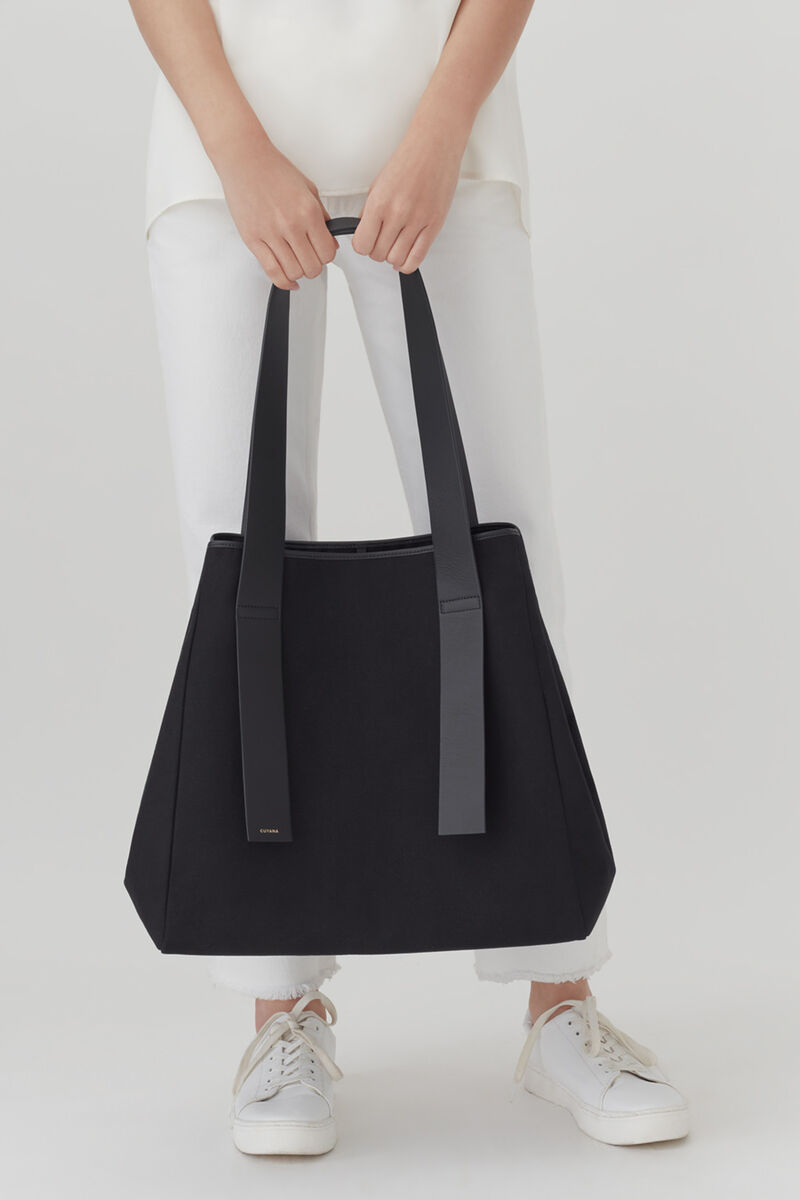 Canvas Tote, Black, large