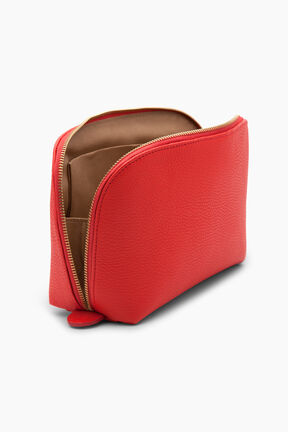 Leather Travel Case Set, Red, plp