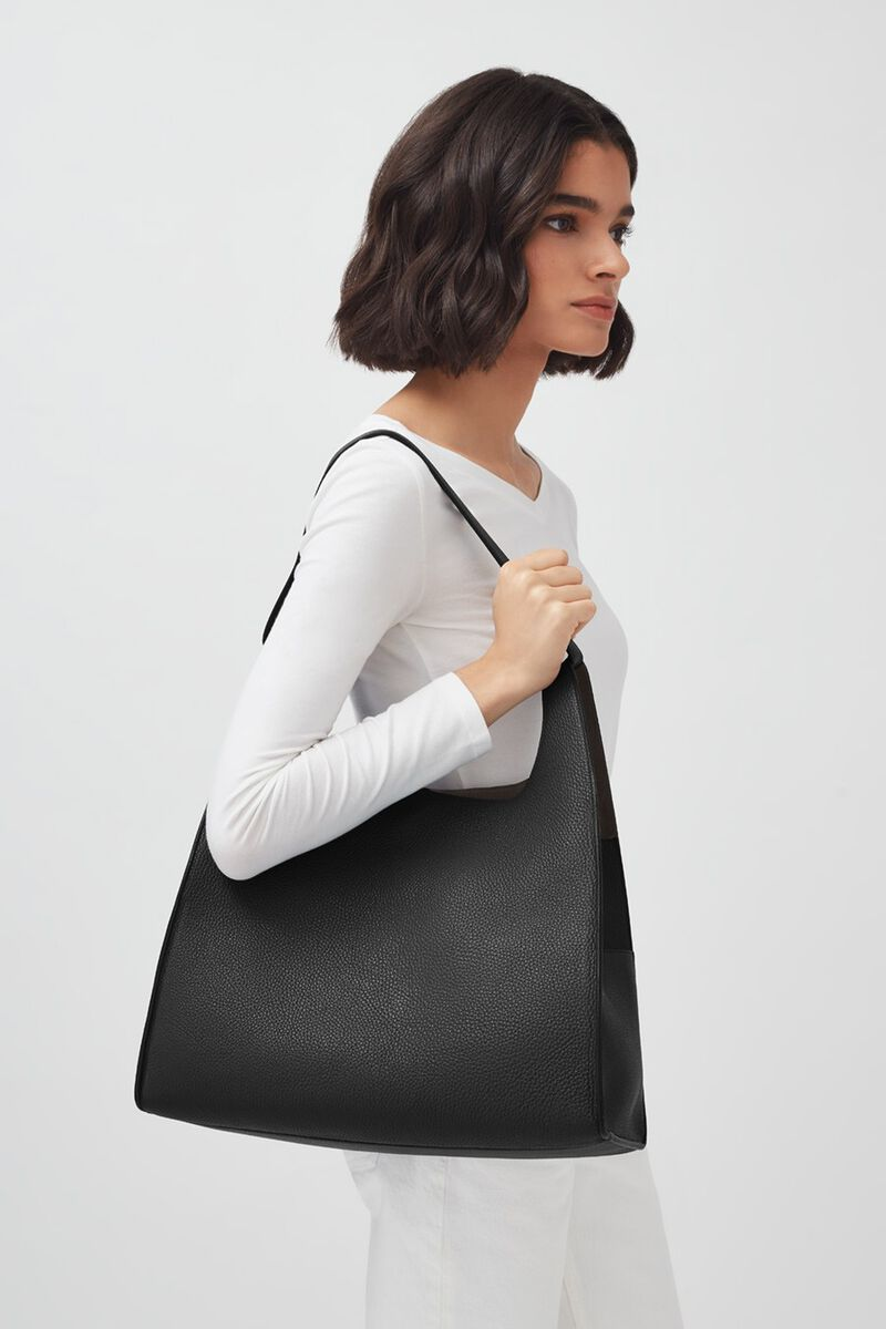 Oversized Hobo in Black