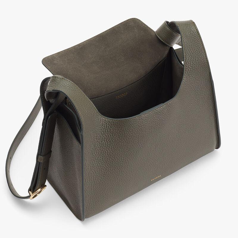 Double Loop Bag, Dark Olive, large