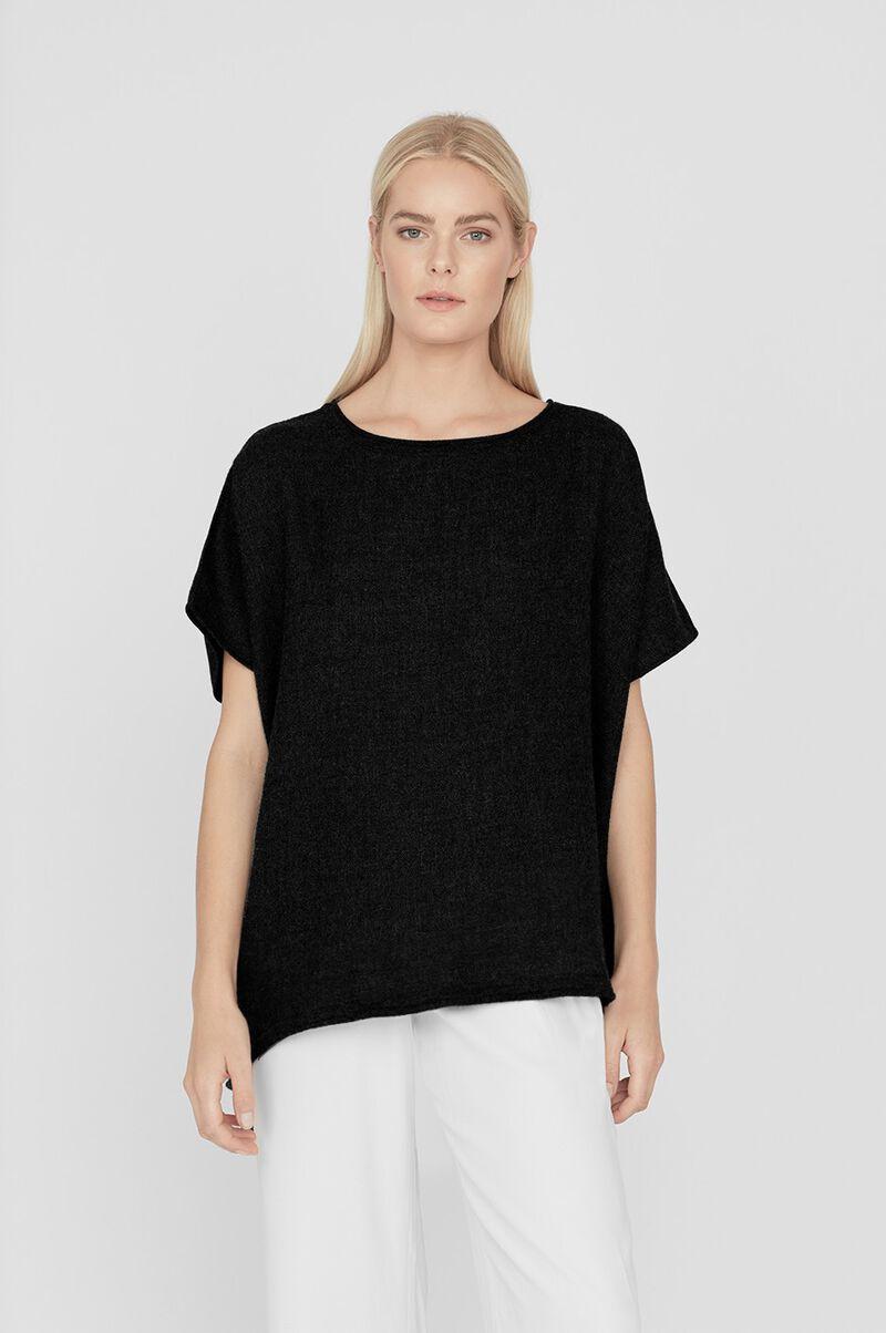 Oversized Alpaca Sweater in Black
