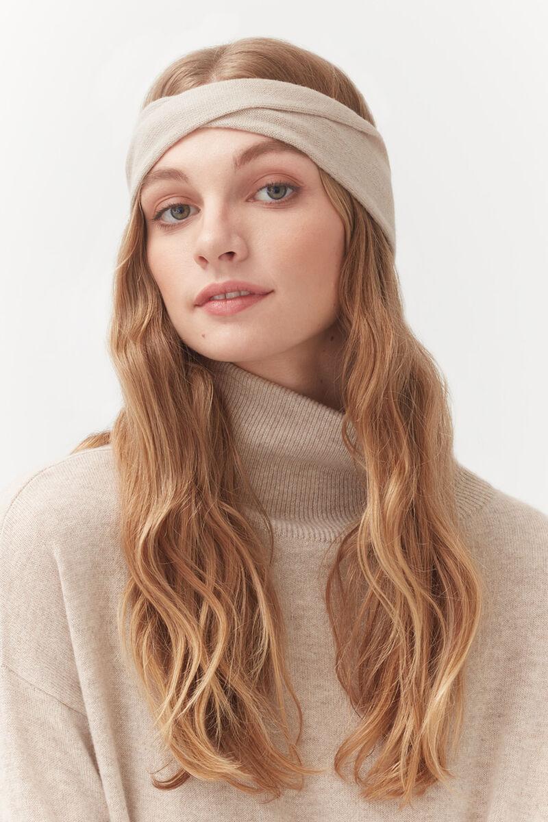 Cashmere Headband in Beige