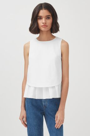 Poplin Pleated Shell