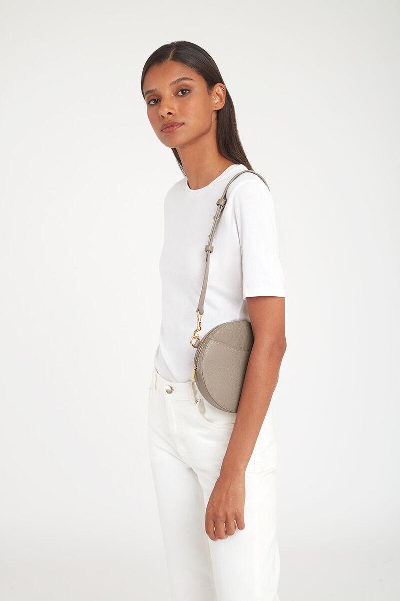 Mini Circle Belt Bag in Stone