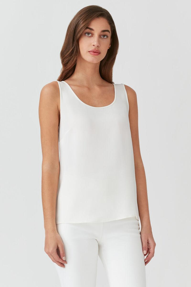 Silk Tank in White
