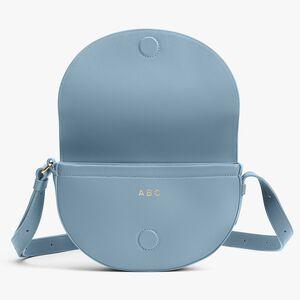 Half-Moon Shoulder Bag, Dusk Blue, mono-gallery
