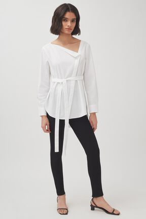 Poplin Asymmetrical Shirt