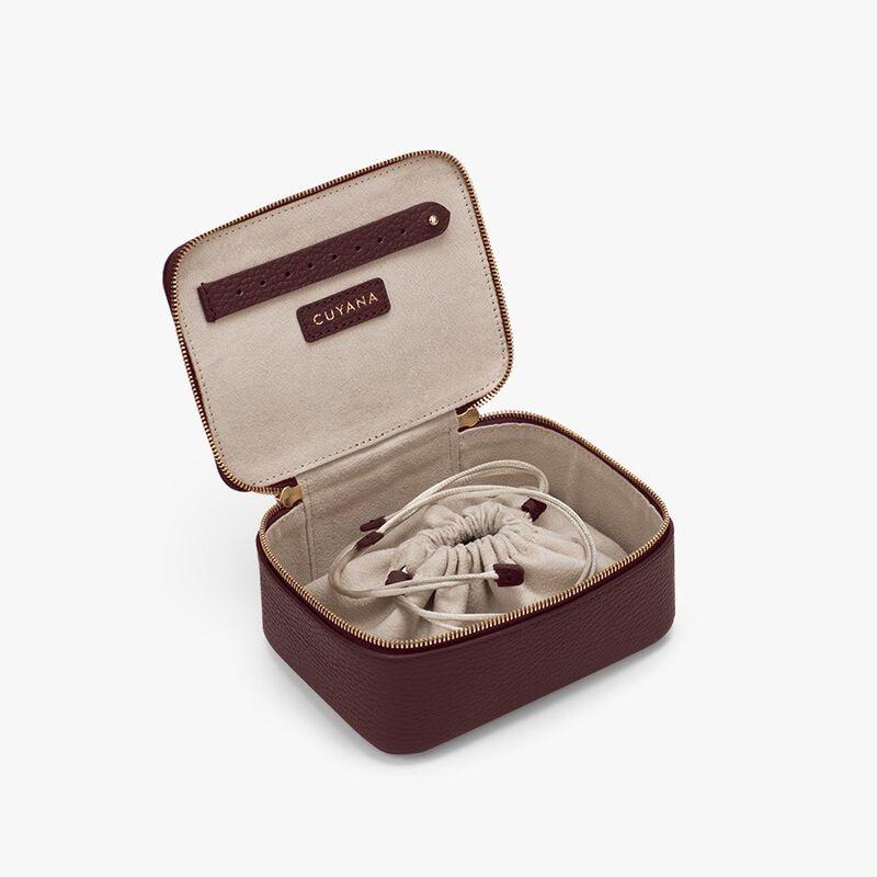 Mini Jewelry Case in Burgundy