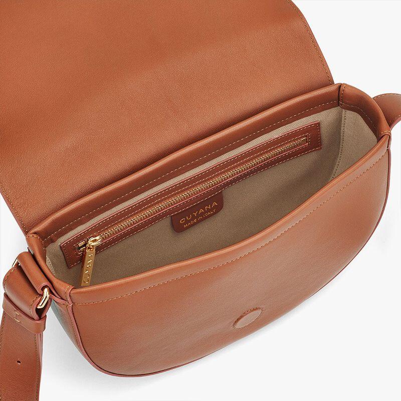 Half-Moon Shoulder Bag in Caramel