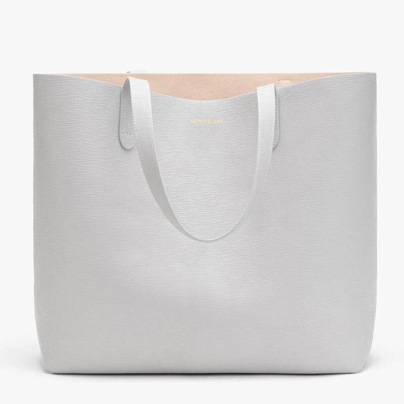 Classic Structured Leather Tote in Perla/Blush