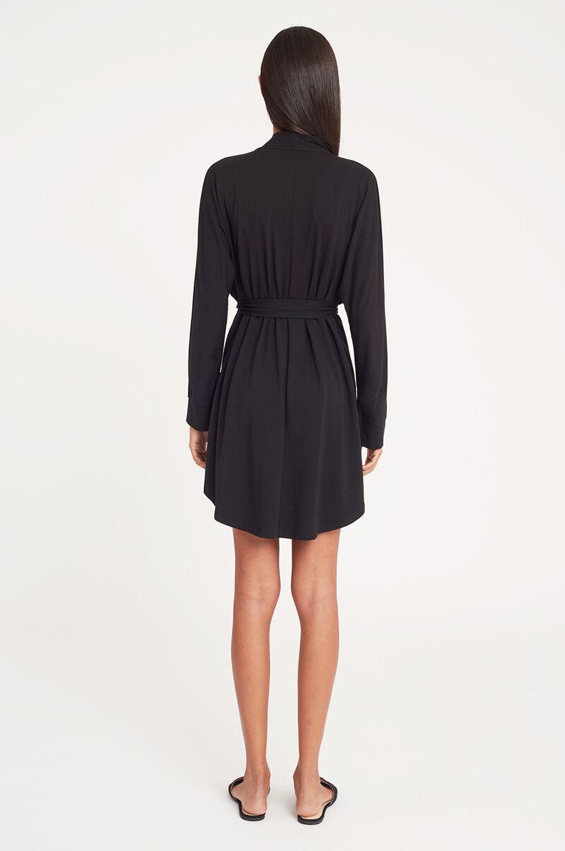 Pima Modal Robe in Black