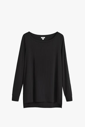 Pima Boatneck Long Sleeve Tee