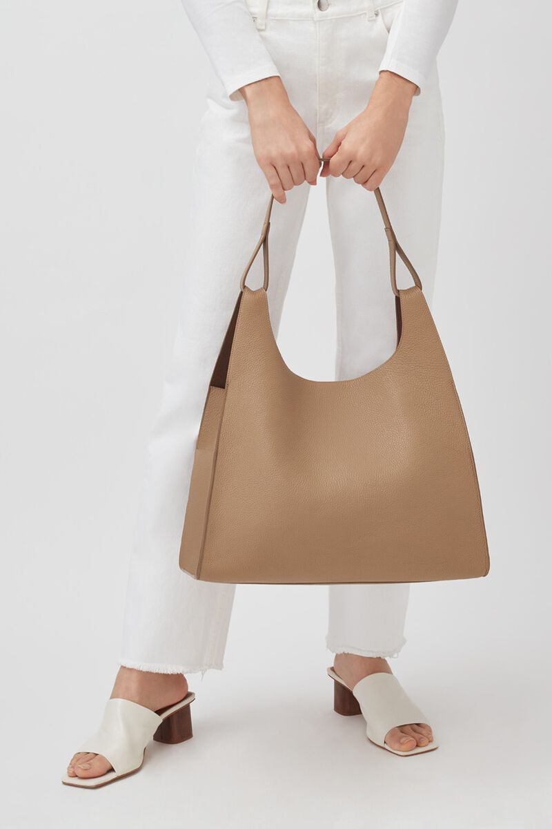 Oversized Hobo in Cappuccino