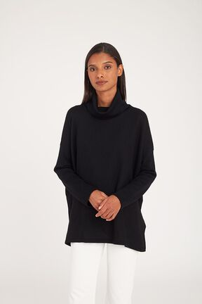 Baby Alpaca Oversized Turtleneck Sweater