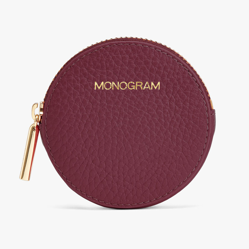 Leather Coin Pouch in Merlot