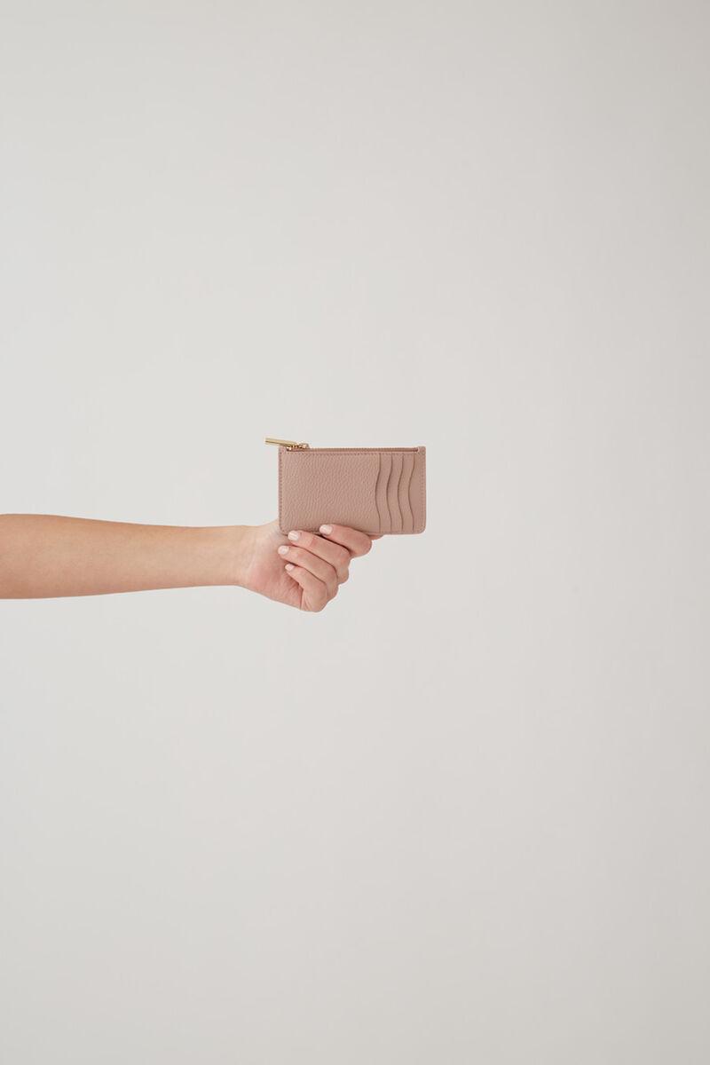 Zip Cardholder in Soft Rose