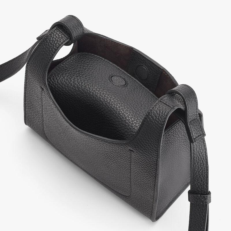 Mini Double Loop Bag, Black, large