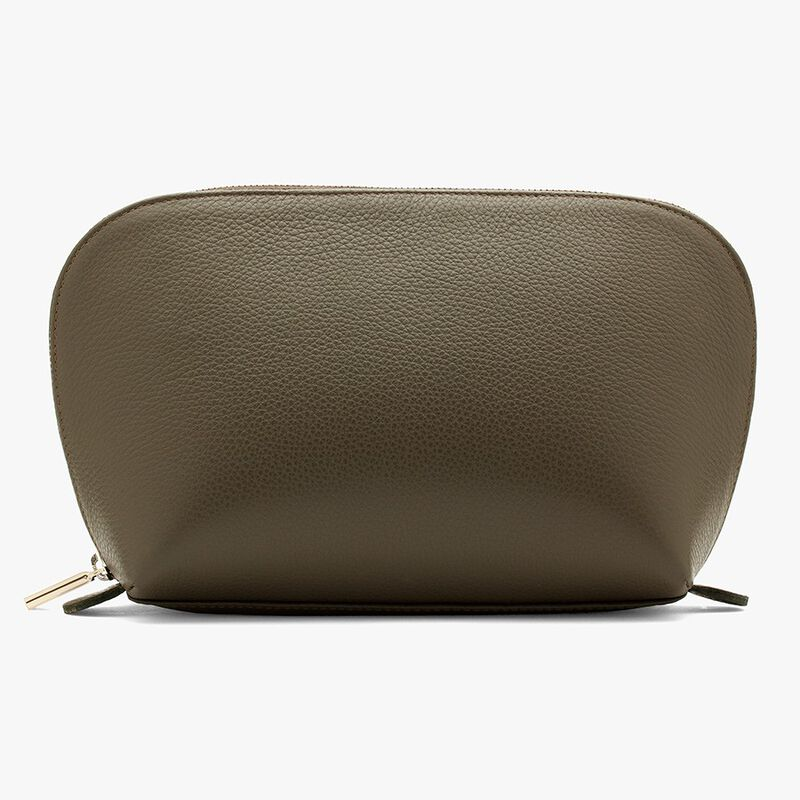 Leather Travel Case Set in Olive