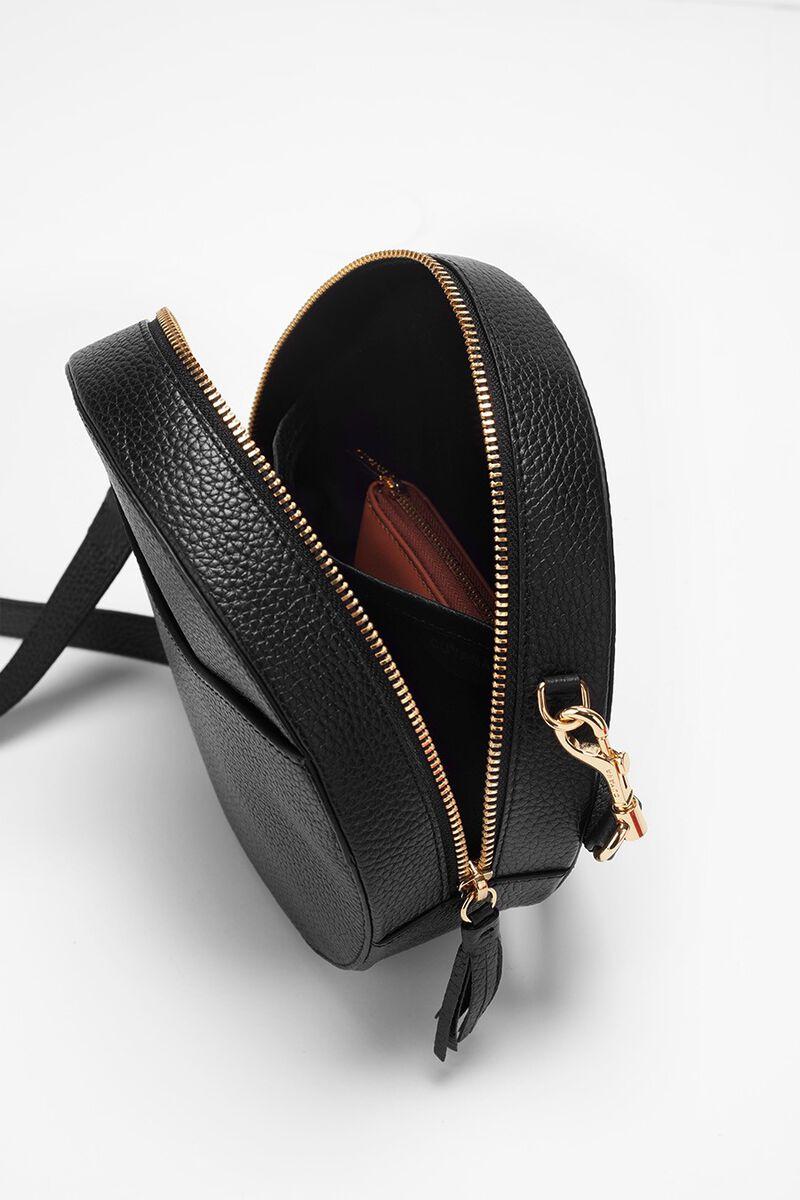 Circle Crossbody Bag in Black