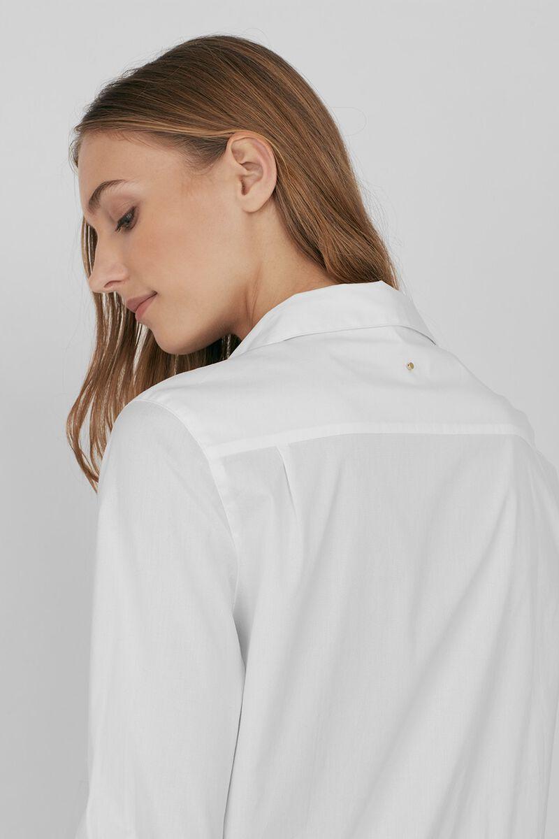 Poplin Boyfriend Shirt in White