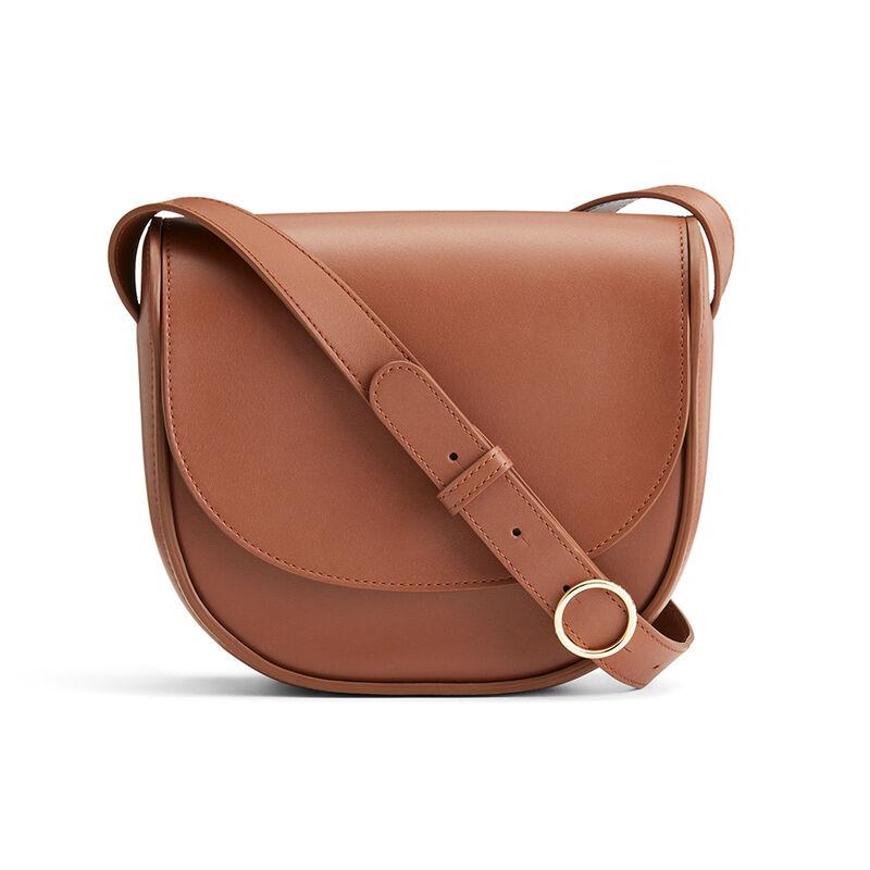 Modern Saddle Bag in Chestnut