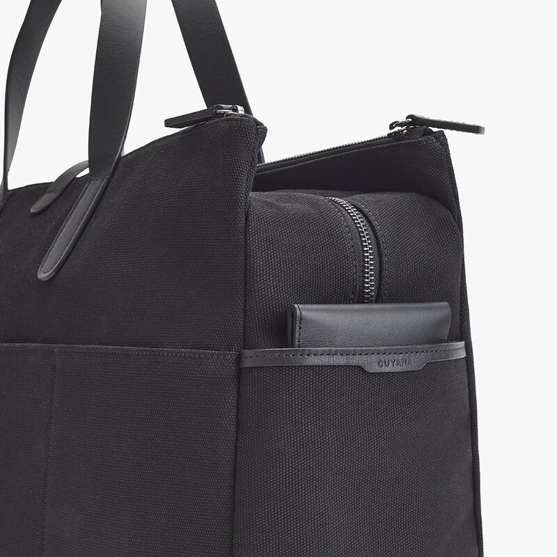 Men's Triple Zipper Weekender in Black
