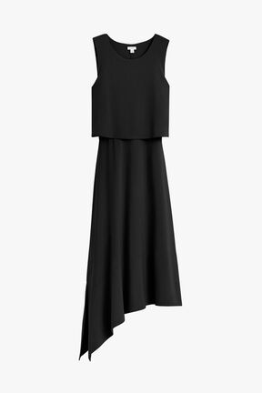 Asymmetrical Overlay Dress