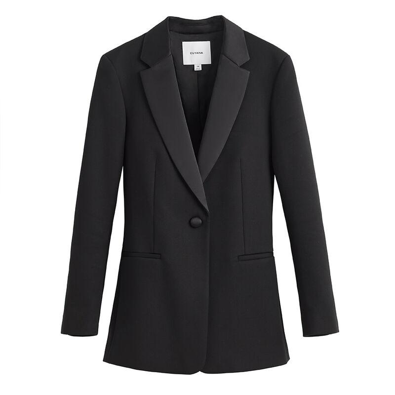 Tuxedo Blazer in Black