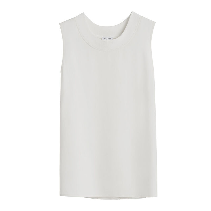 Washable Silk Muscle Tee White