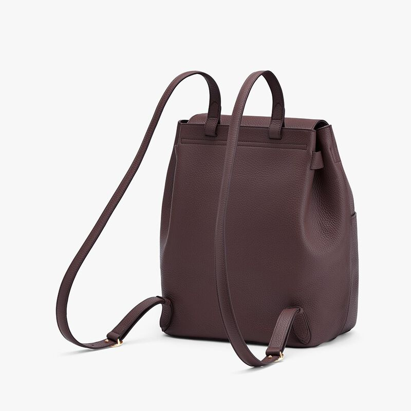 Leather Backpack in Burgundy