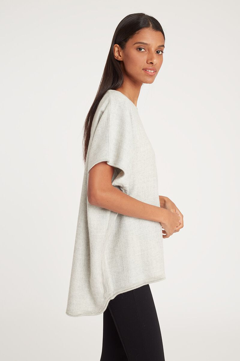 Oversized Alpaca Sweater in Light Heather Grey