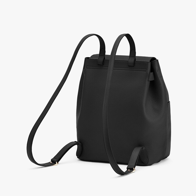 Leather Backpack in Black