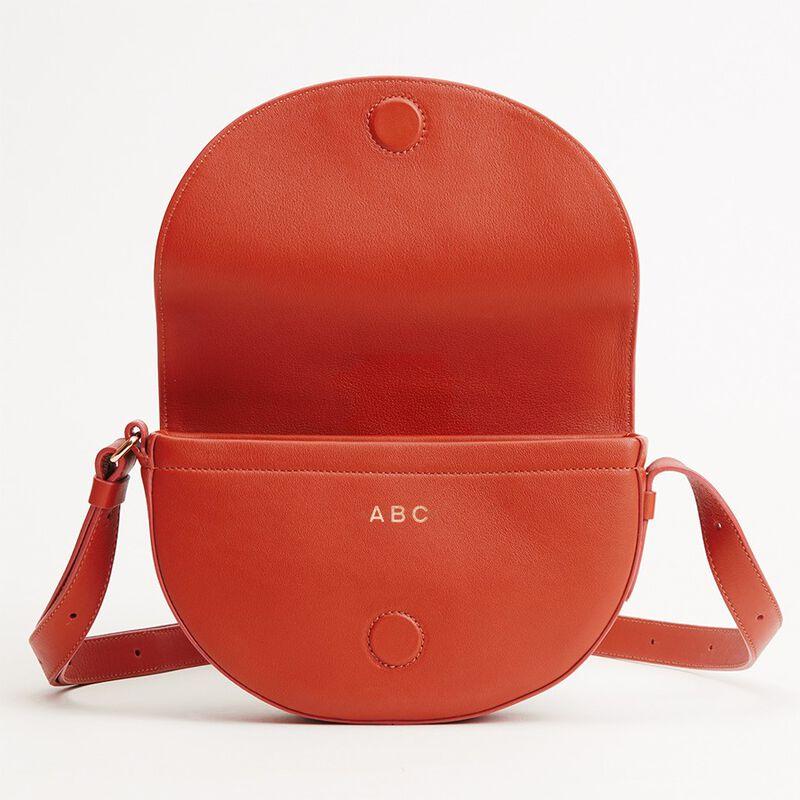 Half-Moon Mini Bag in Blood Orange