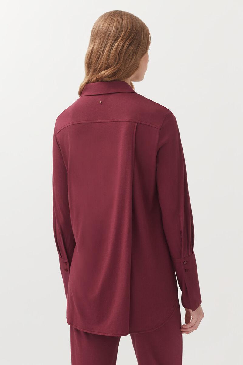 Pima Shirt in Berry