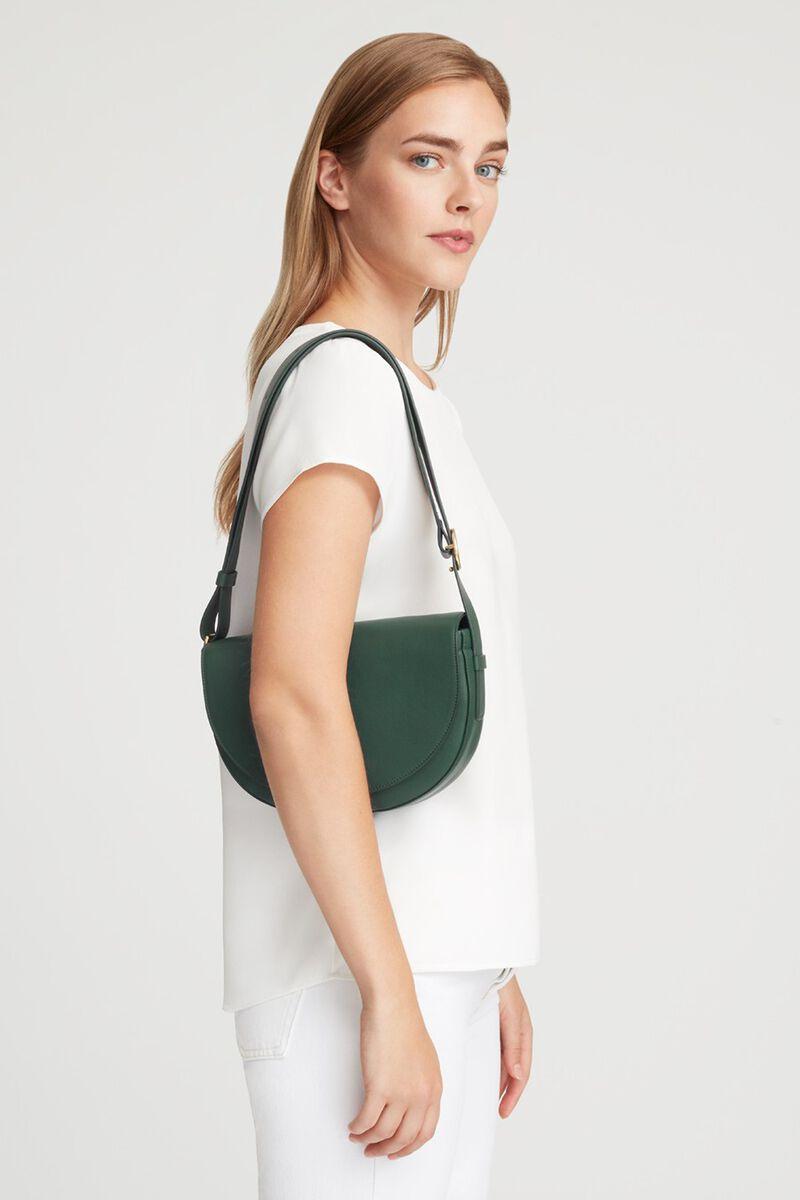 Half-Moon Shoulder Bag in Forest
