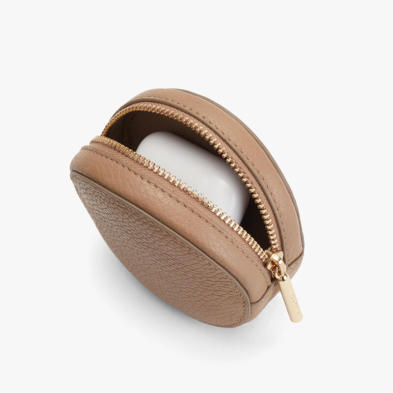 Circle Pouch Add-On, Cappuccino, large