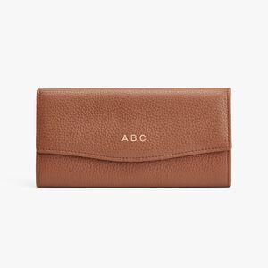 Classic Flap Wallet, Caramel, mono-gallery